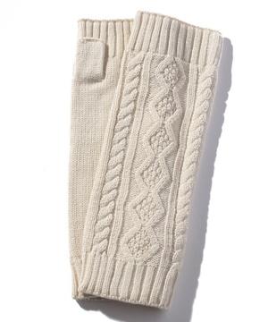 縄編みアームグローブ・手袋