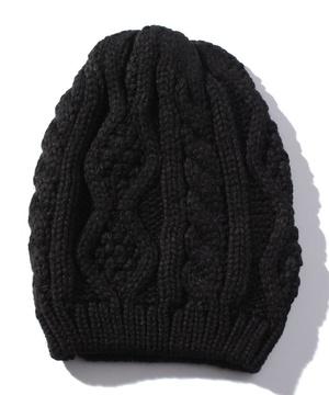 縄編みニットハット・帽子