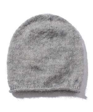 モヘア混シンプルニット帽・ニットキャップ