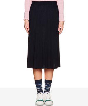 ミディニットプリーツスカート
