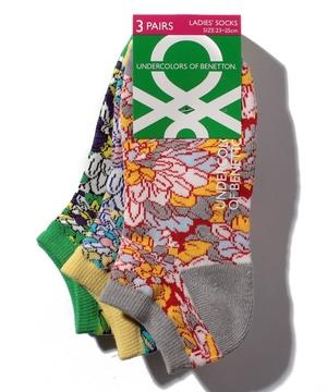 レディース・フラワー柄Sソックス・靴下