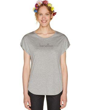袖切り替えロゴ半袖Tシャツ・カットソー