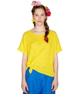 裾リボンすかし編みTシャツ・カットソー