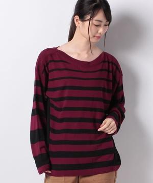 ボックス型長袖ニット・セーター