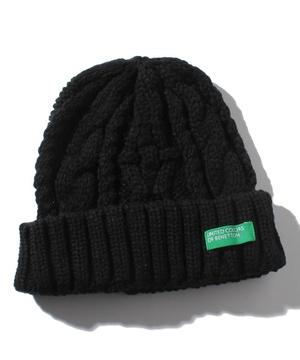 ベネトンケーブルニット帽・帽子