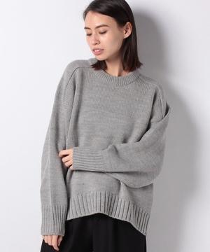 ラグランスリーブビッグニット・セーター