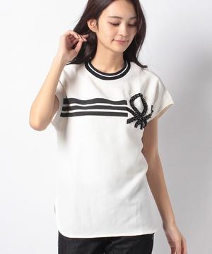 ジョーゼットロゴプリントTシャツ・カットソー