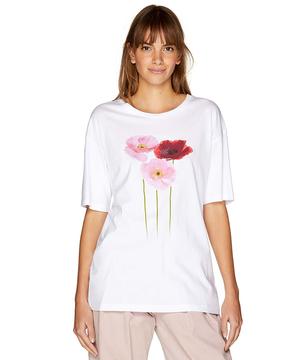モダールプリント半袖Tシャツ・カットソー