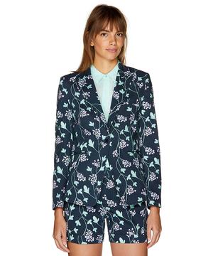 コットン花柄テーラードジャケット