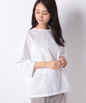 ボーラー刺繍ラグラン七分袖Tシャツ・カットソー