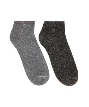 ラメアンクルソックス・靴下