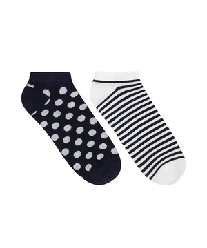 マルチパターンアンクルSソックス・靴下2足セット