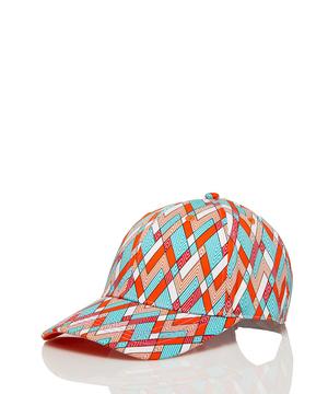 コットン総柄キャップ・帽子