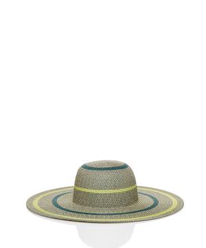 つば広バイカラーハット・帽子