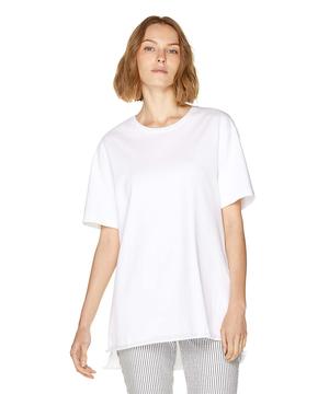 コットンラウンドネック5分袖Tシャツ・カットソー