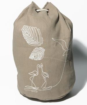 アニマル刺繍ビーチバッグ