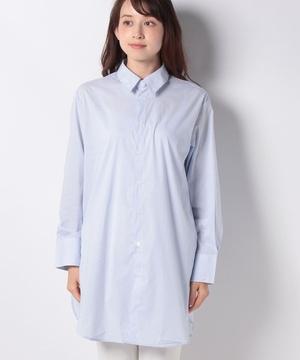 コットンストライプオーバーサイズシャツ・ブラウス