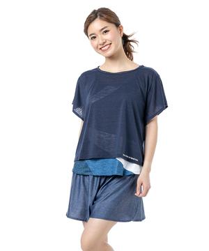 4点セットタンキニ・水着(S丈Tシャツ/キャミ/ショーツ/パンツ)