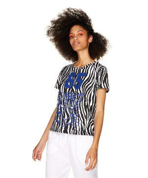 ゼブラ柄ナンバー半袖Tシャツ