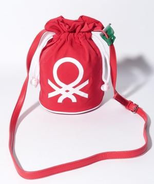 ブランドロゴ巾着型ミニショルダーバッグ