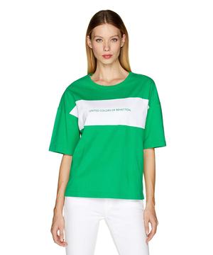 コットンブランドロゴ配色Tシャツ・カットソー