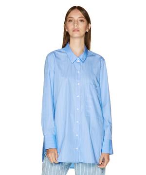 オーバーサイズブランドロゴポケットシャツ・ブラウス