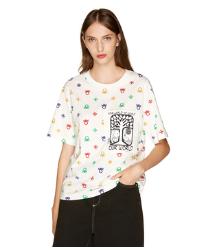【スヌーピーコラボ】ロゴモチーフTシャツ