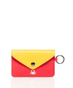 リング付き配色カードケース