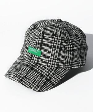 ベネトンロゴチェック柄キャップ・帽子