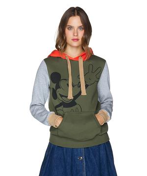 【Disney(ディズニー)コラボ】ミッキーマウス配色スウェットパーカー