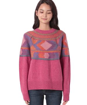 シェットランド柄編みオーバーサイズニット・セーター