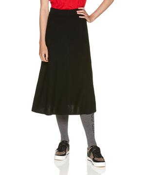 ウールミディニットスカート