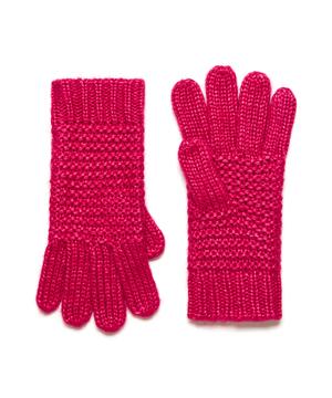 ガーター編みニットグローブ・手袋