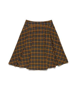ウール混チェックガーゼAラインスカート