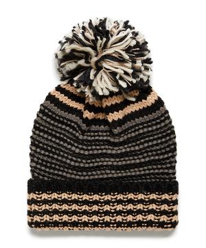 ポンポン付きニット帽・帽子