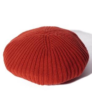 ニット柄編みベレー帽