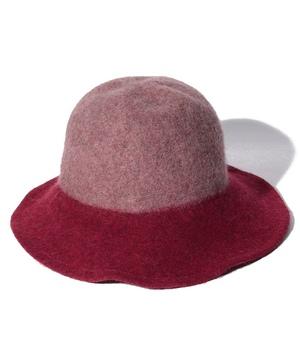 つば配色ハット・帽子
