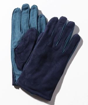 スエード配色グローブ・手袋