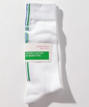レディースバックラインロゴロングソックス・靴下