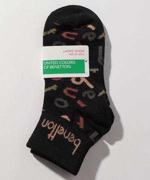レディースラガーロゴ総柄Sソックス・靴下