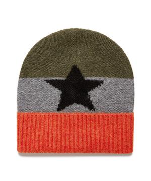 スターモチーフニットワッチキャップ・ニット帽