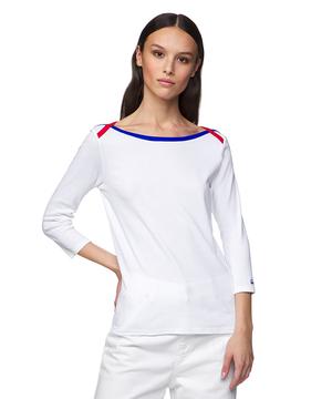 ボートネック7分袖Tシャツ・カットソー