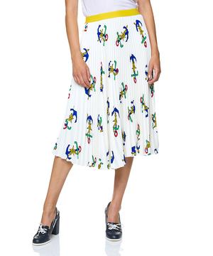 レインボートロングプリーツスカート