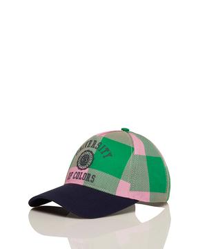 カレッジロゴチェックキャップ・帽子