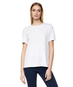 クルーネック裾ロゴ刺繍半袖Tシャツ・カットソー