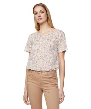 コットン花柄半袖ブラウス・シャツ
