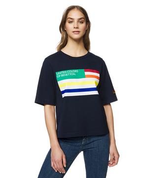ベネトンロゴレインボーフラッグTシャツ・カットソー