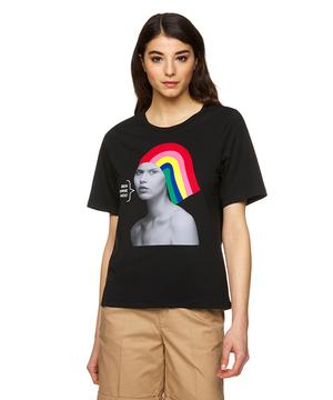 レインボーモチーフオーバーサイズTシャツ・カットソー