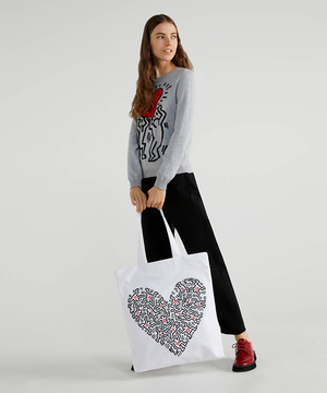 【キース・ヘリングコラボ】キャンバストートバッグ