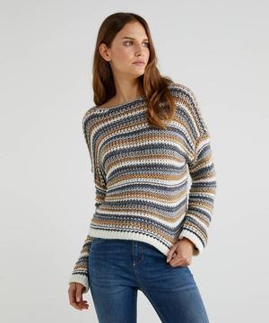 ローゲージボートネックニット・セーター